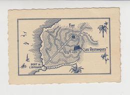 "CDV  / 83 , Var ,  ILE DU LEVANT ,  HOTEL PENSION RESTAURANT  "" LES RESTANQUES "" - Visiting Cards"