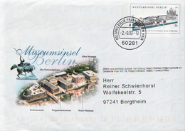 Germany Used Postal Stationery Cover - Museums