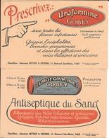 2 Buvards Anciens PRODUITS PHARMACEUTIQUES : LABORATOIRE BEYTOUT CISTERNE Paris - UROFORMINE GOBEY - Produits Pharmaceutiques