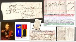 Lettre 1840 Signée Baron DE WARENGHIEN (1771-1854) Général Commissaire Des Guerres - Autographes