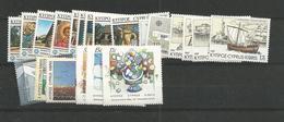 1987 MNH Cyprus, Year Complete, Postfris - Zypern (Republik)