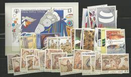 1989 MNH Cyprus, Year Complete, Postfris - Zypern (Republik)