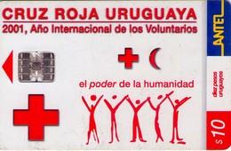 TARJETA TELEFONICA DE URUGUAY. 192a (CRUZ ROJA URUGUAYA) (274) - Uruguay