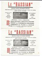 2 Buvards Anciens  PRODUITS PHARMACEUTIQUES : Le BASSIAN (BASSIN ANATOMIQUE) Rue Violet Paris -TOUTES PHARMACIES/Gds MAG - Produits Pharmaceutiques
