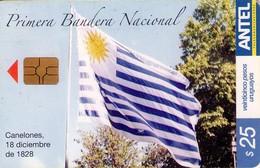 TARJETA TELEFONICA DE URUGUAY. 375a (PRIMERA BANDERA NACIONAL) (275) - Uruguay