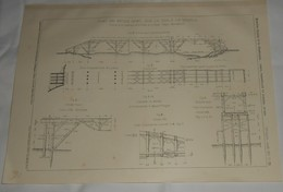 Plan  Du Pont En Béton Armé Sur Le Var à La Mescla. Chemin De Fer De La Vallée De La Tinée. 1912 - Public Works