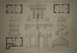 Plan  D'une Petite Maison D'habitation Particulière à Argenteuil. Seine Et Oise. M. Defresne, Architecte. 1912 - Public Works