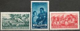 Romania 1951 Scott 777-779 MNH Romanian Young Pioneers Organization - Unused Stamps