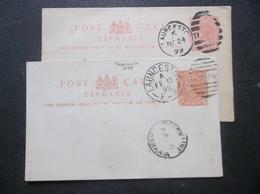 Tasmania, Australia: 1898 & 1899 Postal Cards To Melbourne, Etc. (#PD10) - Postal Stationery