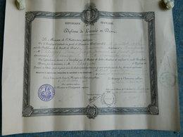 DIPLOME DE LICENCIE EN DROIT A TOULOUSE 1922 - Diplômes & Bulletins Scolaires