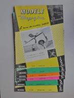 MODELE MAGAZINE Lot 6 Revues Des Modèles Réduits 1966 1967 1968 - Avion - Plan En Poster Sur Double Page Centrale... - Airplanes & Helicopters