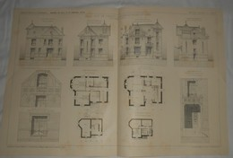Plan  D'une Villa, Rue De Cercay à Brunoy En Seine Et Oise. M. Henri Pronier, Architecte. 1912 - Public Works