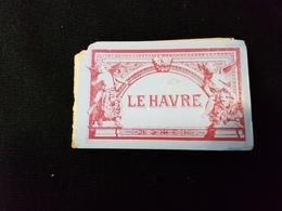 76 LE HAVRE Dépliant Mini Gravure Préfecture Maritimes Bains Frascati Quai Rue De Paris Musée Hotel De Ville Bourse - Tourism Brochures