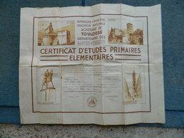 DIPLOME CERTIFICAT D'ETUDES PRIMAIRES ELEMENTAIRES DEPARTEMENT DES HAUTES PYRENEES 1938 - Diplômes & Bulletins Scolaires