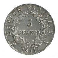 FRANCE X 2 / 5 FRANCS EMPEREUR NAPOLEON EMPIRE FRANCAIS (ARGENT) 1811 A  + COQ ( A VOIR) - J. 5 Francs