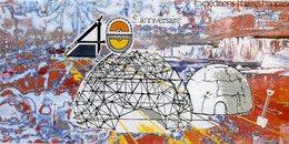 Carte Commémorative Du 40 E Anniversaire Des Expéditions Polaires Françaises Gravure De J Gauthier 22 X 10 - TAAF : Terres Australes Antarctiques Françaises
