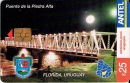 TARJETA TELEFONICA DE URUGUAY. 280a (PUENTE DE LA PIEDRA ALTA) (279) - Uruguay