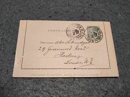 MONACO STATIONERY CARD MONTE CARLO TO HACKNEY GREAT BRITAIN 1900 - Interi Postali