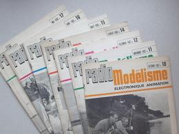 RADIO MODELISME Lot 7 Revues Des Loisirs Techniques 1967-1968 N°10 11 12 14 15 16 Et 17  Avion Bateau Plan Electronique - Airplanes & Helicopters