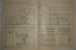 Plan D'une Briqueterie Avec Four Annulaire Continu à Büderich En Allemagne. Par La Société Zeitzer. 1912 - Public Works