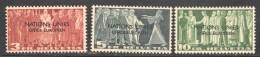 ONU Bureau Européen  1950  Sujets Symboliques  SBK 18-20  * - Service