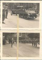 ABO Armée Belge D'Occupation En Allemagne Années 50. 2 Photos  Du Défilé Militaire,artillerie,chenillé - Vehicles