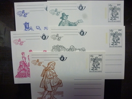 BELGIE BRIEFKAARTEN 28/33 COTE : 75 EURO - Cartoline Commemorative