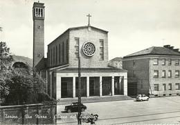 """770"""" TORINO - VIA NIZZA - CHIESA DEL LINGOTTO CON AUTO E LAMBRETTA """" CART ANIM NON SPED. - Churches"""