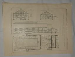 Plan D'une Tuilerie Mécanique Avec Four Annulaire Continu. Construite Par  La Société Zeitzer De Cologne Ehrenfeld. 1912 - Public Works