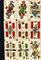 029366 Vintage German 32 PLAYING CARDS With Names - 32 Cards