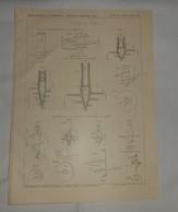 Plan De Pieux à Vis. 1912 - Public Works