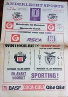 PROGRAMME ANDERLECHT  V.  BENFICA 1987/1988 EUROPEAN CUP - Programs