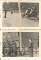 ABO Armée Belge D'Occupation En Allemagne Années 50. 2 Photos  Du Défilé Militaire,artillerie, Canon Bofors - Vehicles