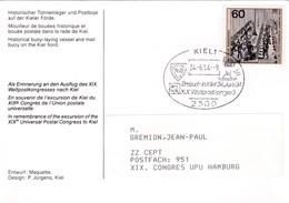 Kiel. Besuch In Kiel Des XX. Weltpostkongresses - UPU (Universal Postal Union)