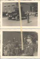 ABO Armée Belge D'Occupation En Allemagne Années 50. 2 Photos  Du Défilé Militaire,artillerie - Vehicles