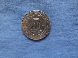 5 DINARDS ARGENT 1972 - Argelia