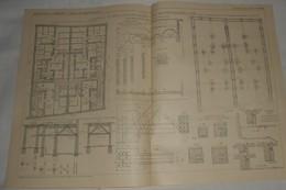 Plan De Fondations En Ciment Armé D'un Bâtiment Double, Boulevard Delessert à Paris. 1912 - Public Works