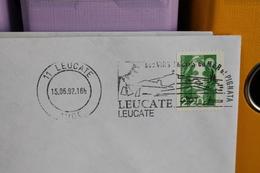 LEUCATE (   AUDE   )        1992    FLAMME  1er  JOUR    SUR  ENVELOPPE  COMPLETE - Mechanical Postmarks (Advertisement)