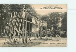 JOINVILLE Le PONT - Ecole Normale Militaire De Gymnastique Et Escrime  -  Saut Du Portique - Beau Plan Animé -  2 Scans - Athlétisme