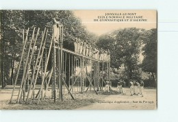 JOINVILLE Le PONT - Ecole Normale Militaire De Gymnastique Et Escrime  -  Saut Du Portique - Beau Plan Animé -  2 Scans - Athletics