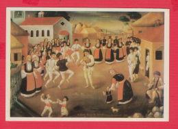 233530 / Bulgarian Art  Nikola Obrazopisov / SAMOKOV / DANCE 1892 MUSIC  Bagpipe Gaida DOG , Bulgaria - Bulgarie