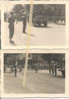 ABO Armée Belge D'Occupation En Allemagne Années 50. 2 Photos  Du Défilé Militaire,artillerie, Blindé Hurricane - Vehicles