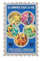 FRANCE. TIMBRE. ERINNOPHILIE. VIGNETTE. GRANDE VIGNETTES. ANTITUBERCULEUX. TUBERCULOSE..1976.1977 - Antituberculeux