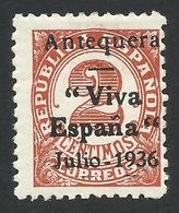 Spain, Antequera 2 C. 1936, Mi # 2, MH - Nationalist Issues