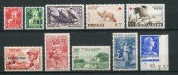 7138   ALGERIE   N° 341/9**  Année Complète     1957      TTB - Algérie (1924-1962)