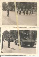 ABO Armée Belge D'Occupation En Allemagne Années 50. 2 Photos  Du Défilé Militaire,artillerie, Military Police - Vehicles