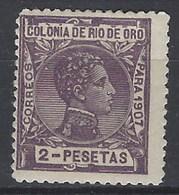 Río De Oro  029 * Alfonso XIII. 1907. Charnela. - Rio De Oro