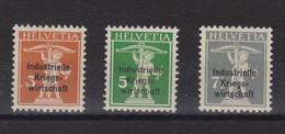 SUISSE  SERVICE 1918 :  Economie Industrielle De Guerre, ZNr 9-11, Neufs** Bonne Cote,  TB - Dienstpost