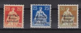 SUISSE  SERVICE 1918 :  Economie Industrielle De Guerre, ZNr 13-15, Neufs** Bonne Cote,  TB - Dienstpost