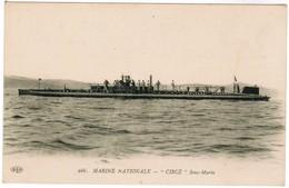 CPA Marine Nationale, Sous Marin Circé (pk44645) - Onderzeeboten